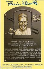 ROBIN ROBERTS PHILLIES SIGNED COOPERSTOWN HALL OF FAME INDUCTION PLAQUE CARD