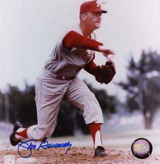 Jim Bunning signed Philadelphia Phillies vintage 8x10 photo Hall of Fame