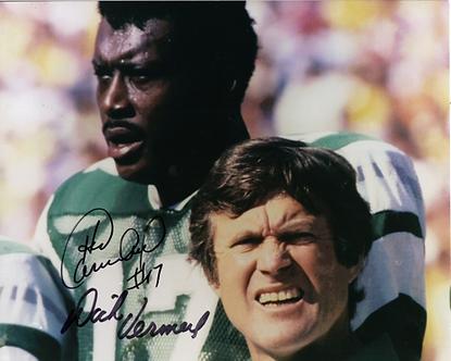 Harold Carmicheal Dick Vermeil Philadelphia Eagles dual signed 8x10 photo