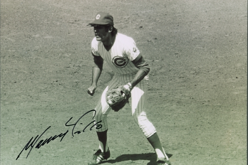 Manny Trillo Chicago Cubs autographed action 8x10 Phillies