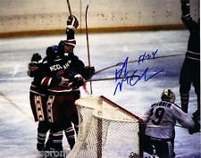 ROB MCCLANAHAN 1980 OLYMPIC HOCKEY GOLD MEDAL MIRACLE ON ICE SIGNED 8X10 L@@K