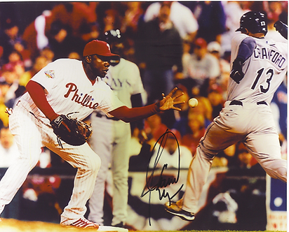 Jamie Moyer signed Phillies 2008 World Series flip 8x10 photo Ryan Howard