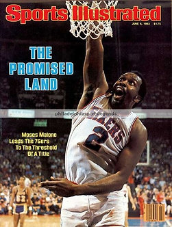 Moses Malone Sixers Sports Illustrated photo 1983