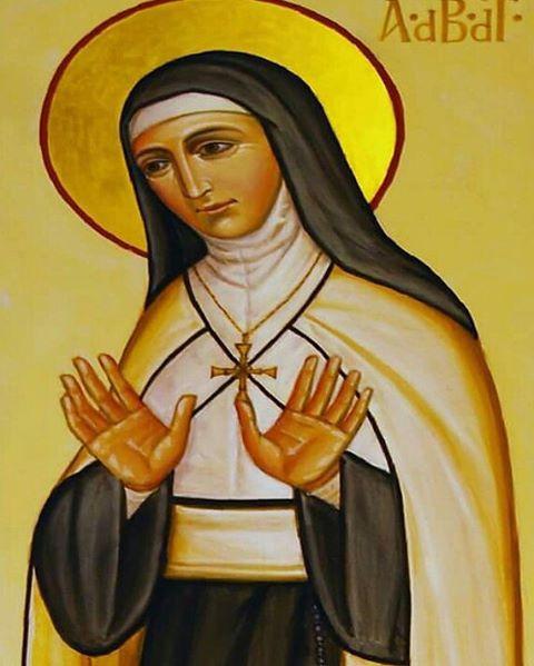 Ícone de Madre Adela na AG-FMI, em Roma