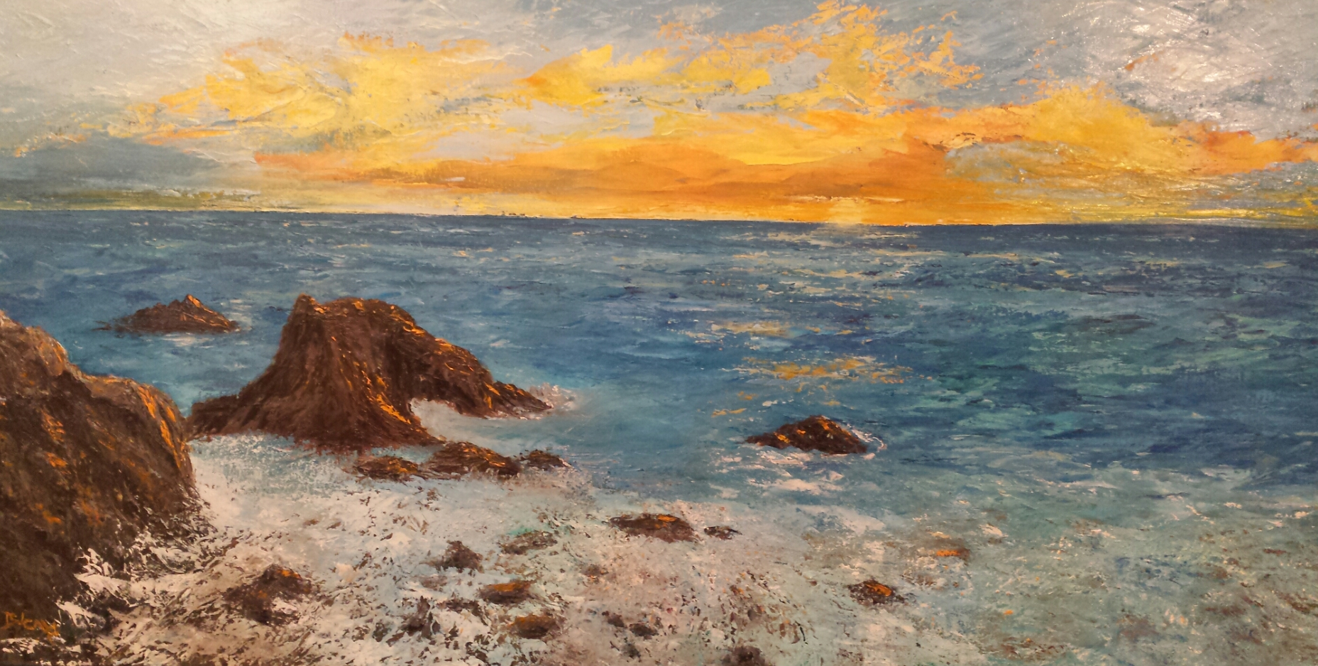 Sunset in the Caribbean - sold