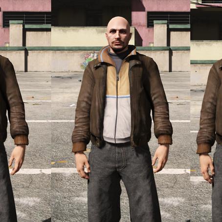 Куртка Нико для мужского персонажа для GTA 5