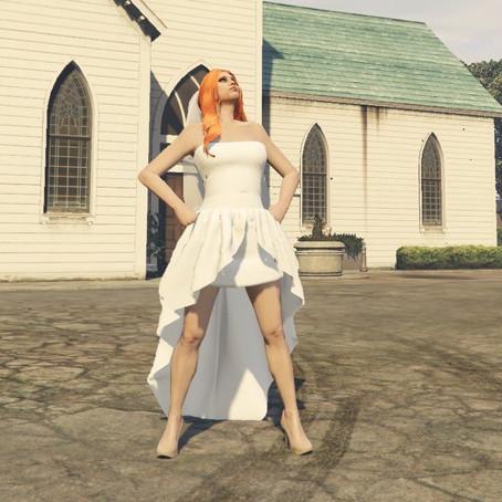 Свадебное платье для женского персонажа для GTA 5