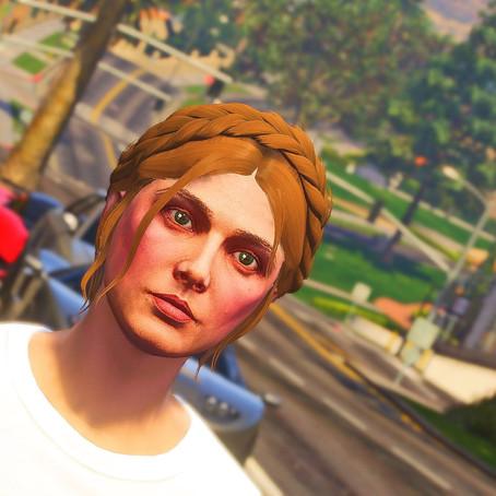 Короткая причёска с косой для женского персонажа для GTA 5