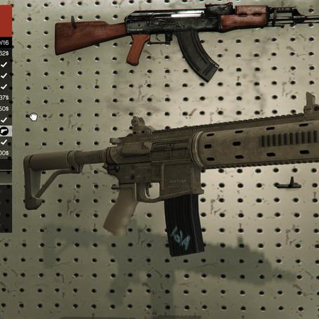 Новая пустынная раскраска для карабина для GTA 5