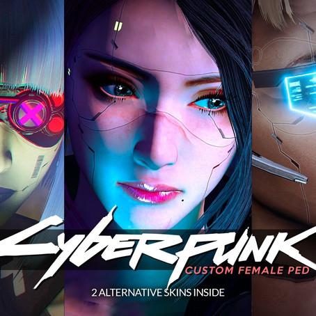 Женский персонаж в стиле Cyberpunk для GTA 5