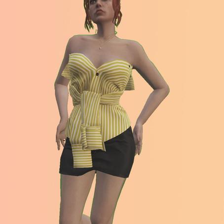Топик из рубашки для женского персонажа для GTA 5
