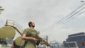 Пустынный скин для Боевого Пулемёта для GTA 5