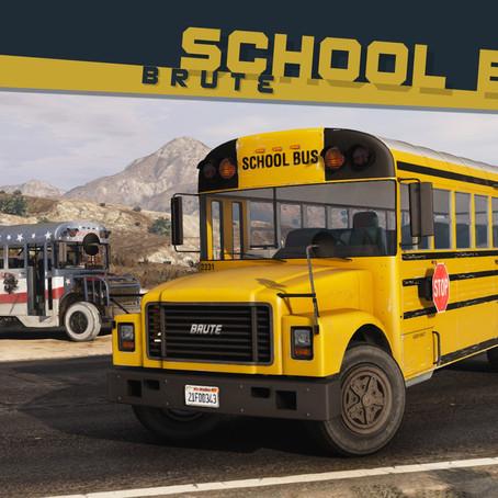 Brute School Bus & Derby Bus для GTA V