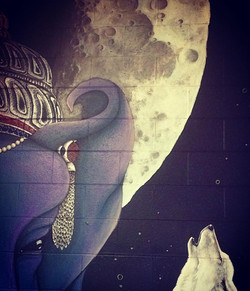 Ganesh & moon