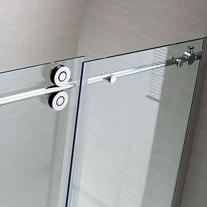 Frameless-Glass-Sliding-Shower-Door-Stai