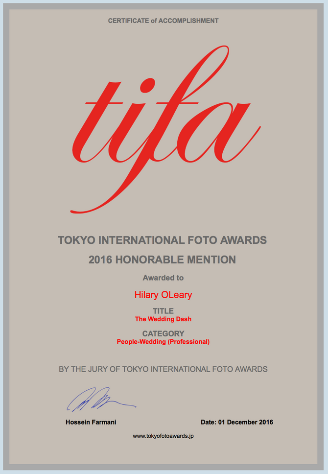 TIFA photography award 2016