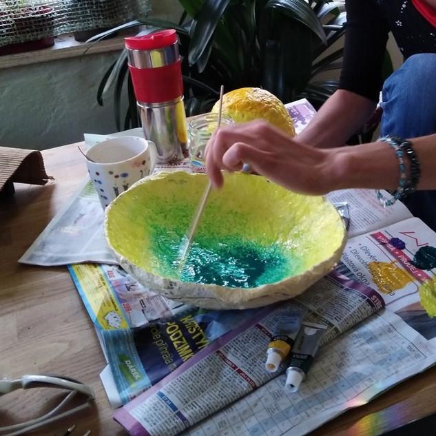 Dílna 3D papier TH a papier mache/mísy, misky, mističky ...