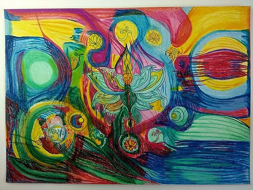 Intuitivní abstraktní energetický obraz