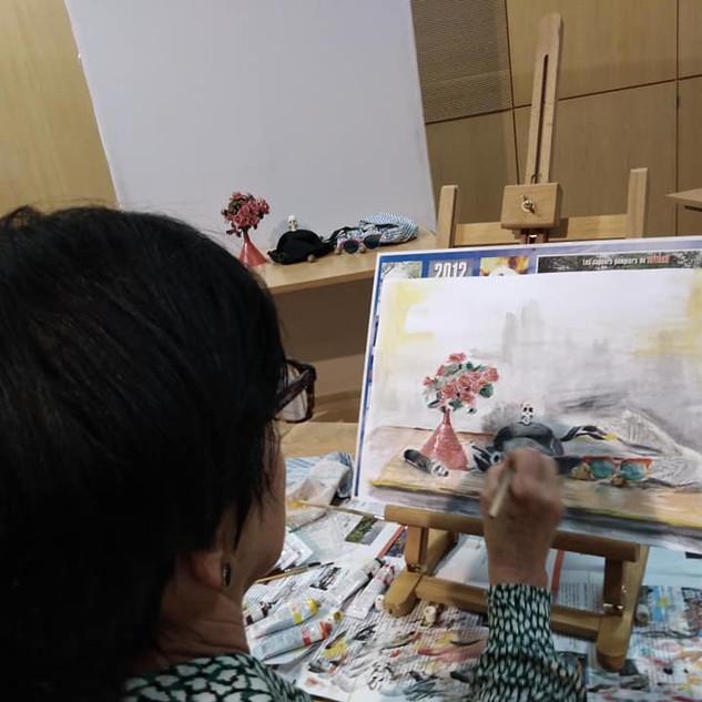 Večerní malování a kreslení