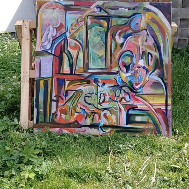 24.5.2019 ART papírový happening DRALA  v Resslově parku v Liberci