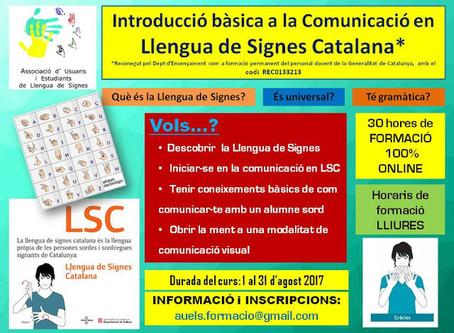 Primera edició del curs de LSC a modalitat online