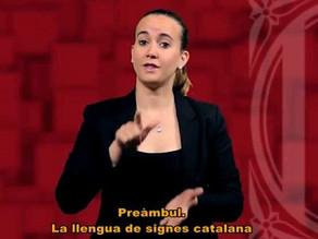 Política Lingüística commemora els 10 anys de la Llei 17/2010 de la llengua de signes catalana