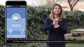 L'App 061 Salut Respon serà accessible en llengua de signes catalana