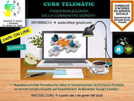 Primera edició del curs de formació a modalitat online
