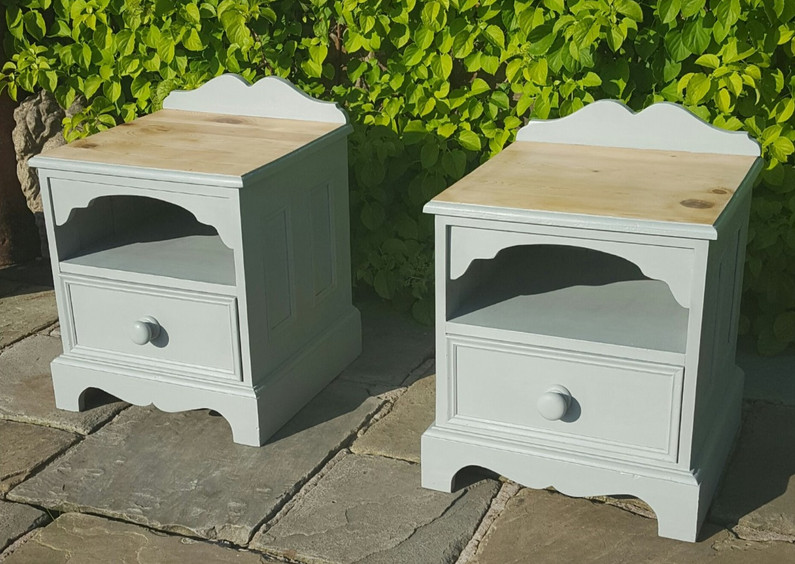 Bedsides painted with Frenchic Spitfire