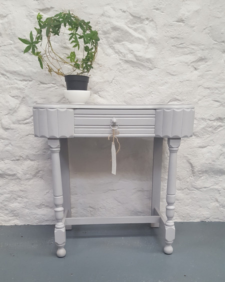 Hall table painted with Frenchic Grey Pebble