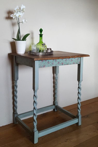 Side table painted with Frenchic Mother Duck