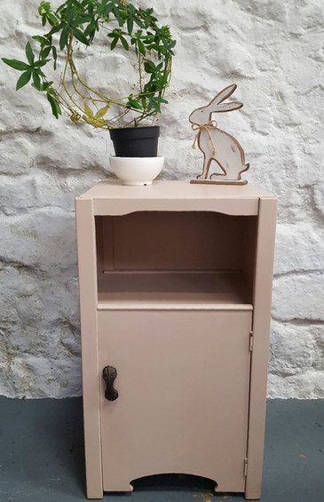 Bedside painted with Frenchic Nougat