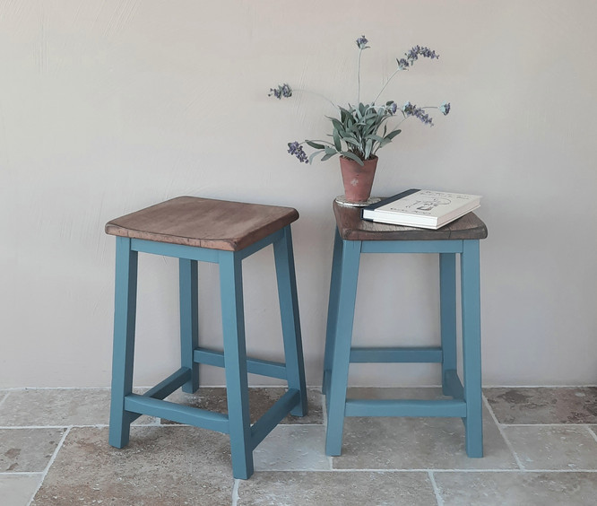 Vintage school stools painted with Frenchic custom mix