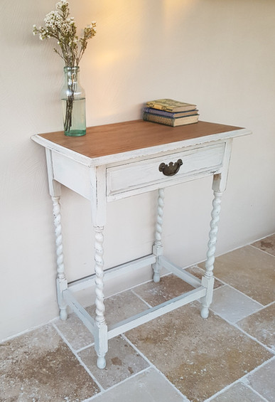 Hall table painted with Frenchic Stone Rosie