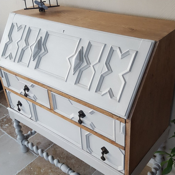 Bureau painted with Frenchic Sugar Puff