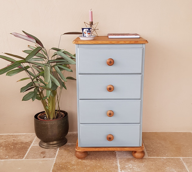 Bedside drawers painted with Frenchic Mother Duck