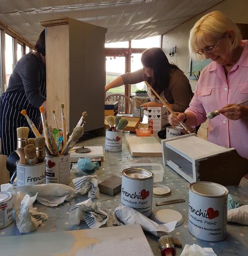 Furniture painting workshop