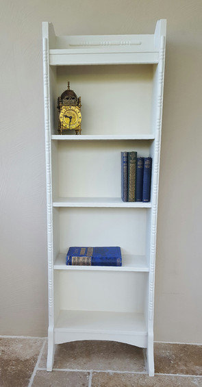 Slim bookcase painted with Frenchic Sugar Puff