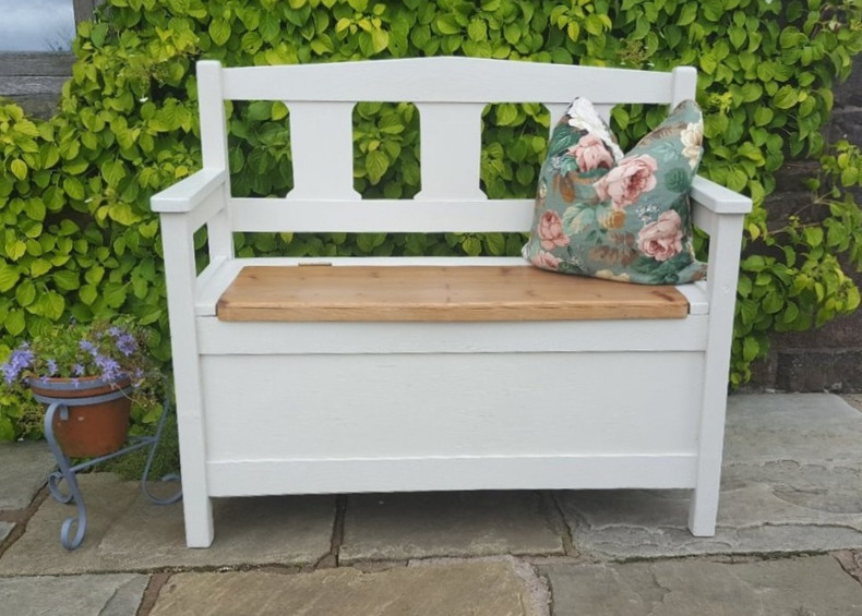 Hall bench painted with Frenchic Sugar Puff