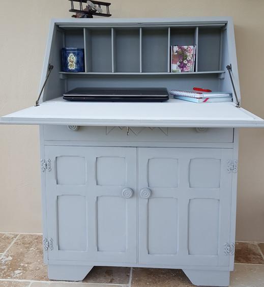 Bureau painted with Frenchic Grey Pebble