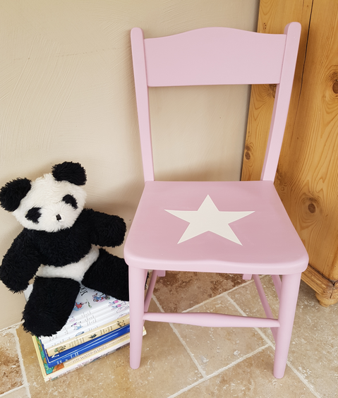 Childs Chair painted with Frenchic custom mix