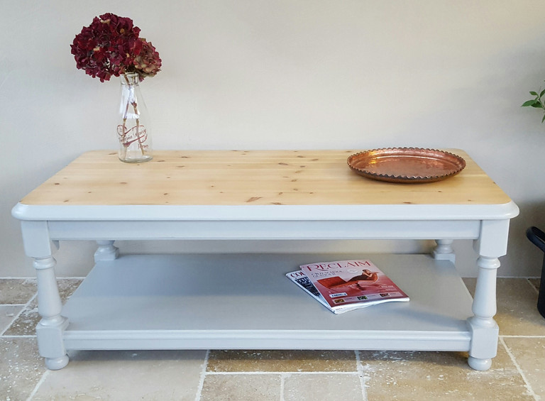 Coffee table painted with Frenchic Sugar Puff