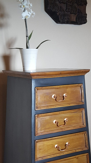 Pyramid chest of drawers painted with Frenchic Loof