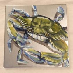 Silver Blue Crab Trivet