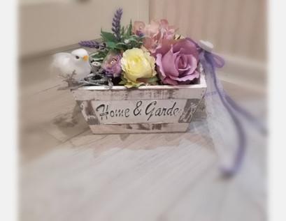 Tischgesteck lila