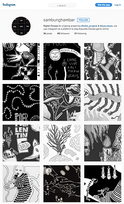 Syaura Qotrunadha, Syaura, Sambunghambar, Online project, Instagram Art, Exquisite Corpse, Digital Exquisite Corpse, Testa Siregar, Syaura Qotrunadha