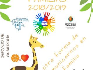 ESCUELA DE FAMILIAS 2018/2019 Participar es esencial