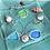 Thumbnail: Sea Glass Bezel Bracelet (Clasp)