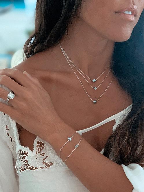 Keshi Tahitian Pearl Floating Necklace