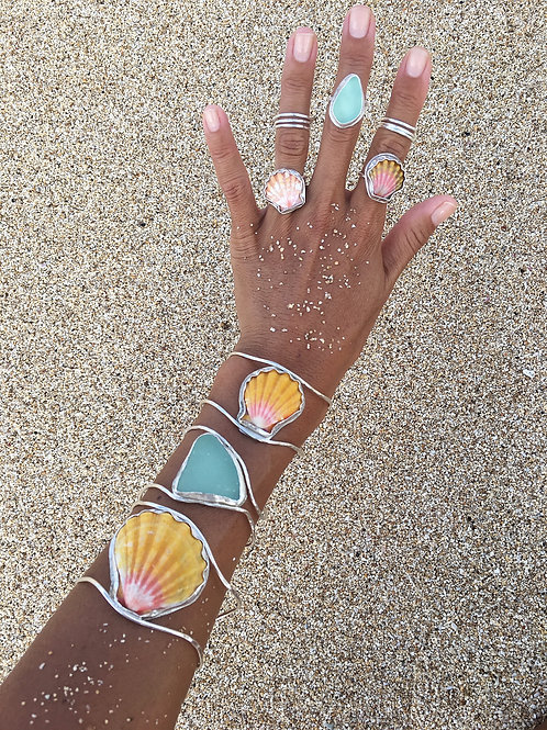 Hawaiian Sunrise Shell Cuff